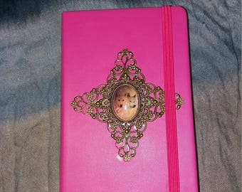 "NoteBook, notebook ""Des Loups"" pink"