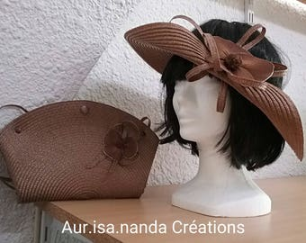 Hat open Cape decoration tone on tone in other colors are available...