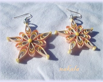 unique varnished paper star earrings