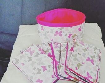 Wipe sponge and basket set