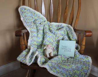 Baby boy blue blanket