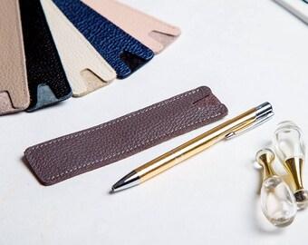 Leather Pen Case Pen Case Leather Pen Holder Handmade Leather Pen Case Pen Sleeve Pen Holder