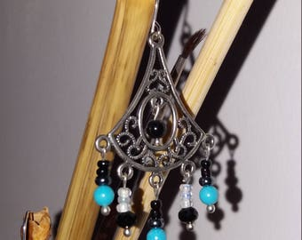 No. 16 Turquoise and Obsidian