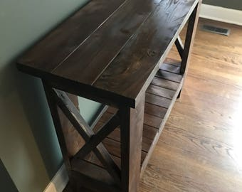 Rustic Living/Dining Room Console Table