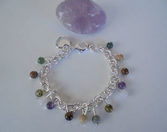 The healing stones 5 charm bracelet