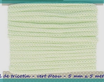Knitting yarn - Seagreen - 5 mm x 5 meters.