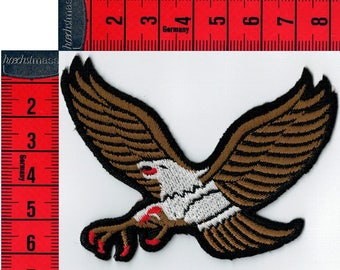Iron or sew Brown Eagle shield embroidered 8.5 X 6.5 cm Patch Applique