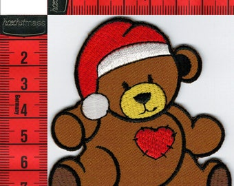 Teddy bear patch iron or sew 7 x 7.5 cm. Patch applique