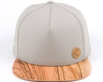 ČAPICA,  gray color cap - OLIVE  WOOD