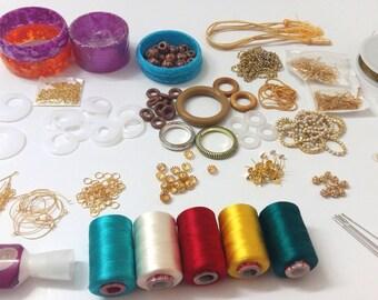 DIY Jewelry kit-Silk Thread Jewelry Making kit!