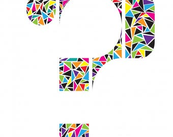 Question mark digital drawing poster 20 x 30 cm