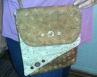 Handbag - Crossover - Camel and Beige