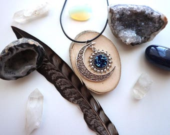 Waning Crecent Moon Necklace