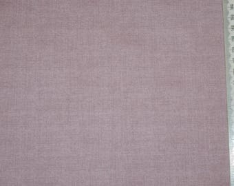 Patchwork - plain faux Makower - appearance of linen - purple embroidery.