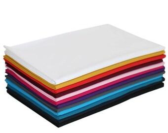 Plain Jersey Knit Fabric 94/6 Cotton Elastane - Range of Colours