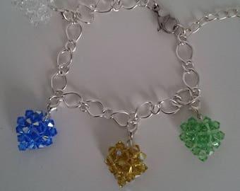 new! my heart vintage AB swarovski bicone bracelet creation