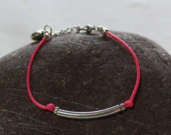 Neon pink cord bracelet * just *.