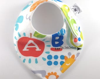 "Anti bavouille ""ABC & Cie"" bandana bib"