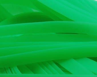 1 meter cord Buna Rubber - plate (8.3x1.6mm) - neon green
