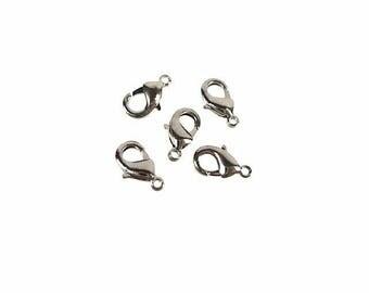 Metal clasp - 10x5mm - with 0eil (0.8 mm) - Hematite