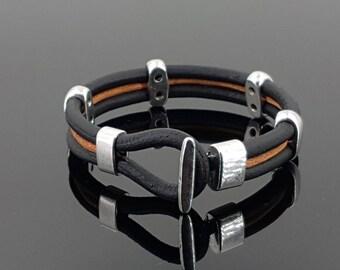 Leather Bracelet, woman bracelet, unisex leather bracelet, man bracelet, man leather bracelet, boho bracelet