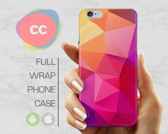 Pink Polygon Phone Case - iPhone 7 Case - iPhone 8 Case - iPhone 6 Case - iPhone 5 Case - iPhone X Case - Samsung S8 Case - PC-301