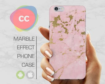 Pink Gold Marble - iPhone 8 Case - iPhone 7 Case - iPhone X, iPhone 8 Plus, 7, 6, 6S, 5S, SE Cases - Samsung S8, S7, S6 Cases - PC-339