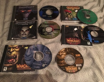 StarCraft + Exp: Brood War WarCraft II & III Battle Chest Ex Packs Plus Guides PC Bundle
