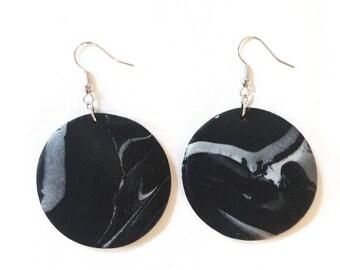 Marble effect earrings