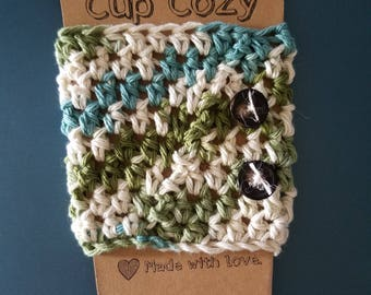 100% Cotton Crochet Cup Cozy