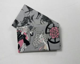 SET of 2 fabric by Alexander Henry Ghastlie Family 30s grey 50X55CM COUPONS