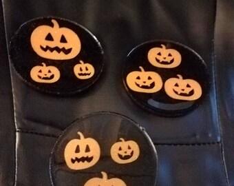 Pumpkin resin coasters
