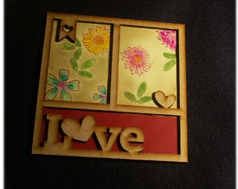 """Medium frame decorated with """"LOVE"""""""