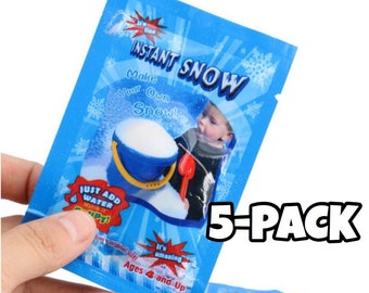 FREE SHIP 5pack lnstant Snow powder! great for making cloud slime/icee slime