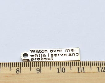 3 Watch over me while I serve and protect charms - EF00053