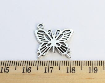 4 Butterfly Charms - EF00006