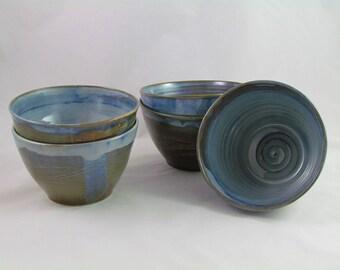 Blue high-temperature firing enamel bowls