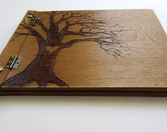 Rustic Wedding Guest Book, Wood Guest Book, Wooden Guest Book, Wedding Album, Alternative Guest Book, Tree Wedding Guestbook, Wedding Gift