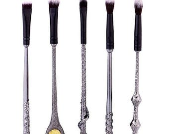 Harry potter makeup brushes wizard wand buy 1 get 1 free