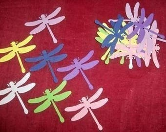 SCRAPBOOKING lot Dragonfly choice 4-5 cm