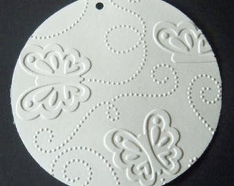 SCRAPBOOKING Lot Punch embossed Butterfly tag