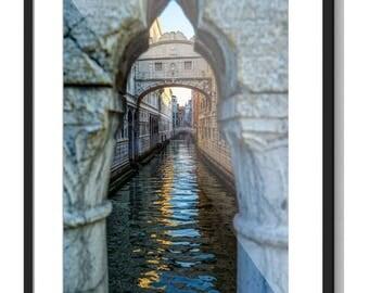Unique Captures, Print Shop for Landscape Photography & Fine Art Photography, Affordable Wall Art, Venice Bridge of Sigh