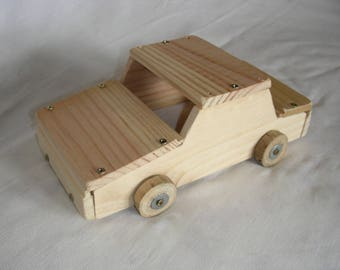 car with real wood small car