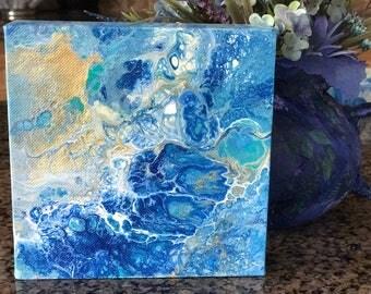 Original Acrylic painting on canvas fluid artwork The Wave