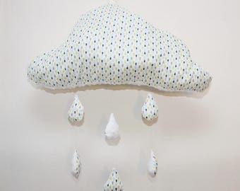 Cushion cloud and raindrops