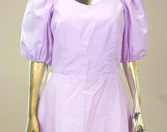 1980s Pink Taffeta Mini Prom Dress w/puffy sleeves