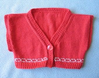 Bolero vest knit 18 months baby