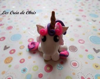 flashy character in polymer clay Unicorn.
