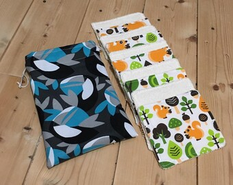 Wipes washable baby forest pattern