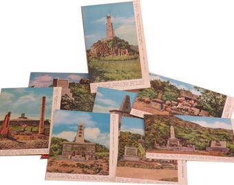 1940s Occupied Japan Postcard Set of 8 [Old Battlefields of OKINAWA] Scarce